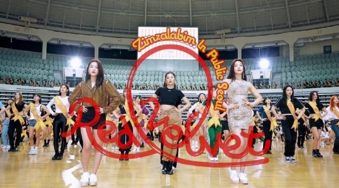"""Red Velvet lança um flashmob com 500 coreanos dançando """"Zimzalabim"""" em Seul"""
