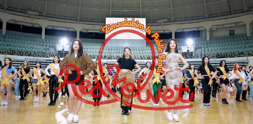 """Red Velvet lança um flashmob com 500 coreanos dançando """"Zimzalabim"""" emSeul"""