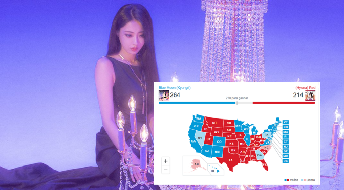 """Os Estados Unidos votaram e decidiram: """"Blue Moon"""", da Kyungri, é o melhor K-pop para os gays da história"""