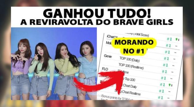 """Do disband ao #1: Brave Girls consegue sua primeira vitória em music shows com """"Rollin'"""""""